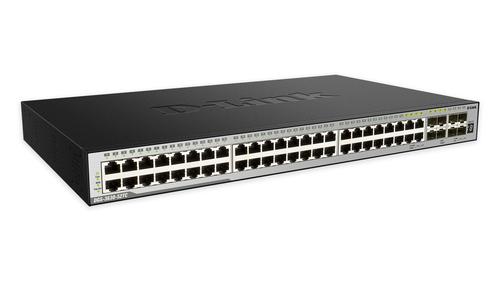 D-Link DGS-3630-52TC Gestionado L3 Gigabit Ethernet (10/100/1000) Negro 1U