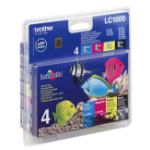 Brother LC-1000VALBP Ink cartridge multi pack, 500pg + 3x400pg, Pack qty 4