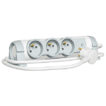 C2G 80813 Indoor 3AC outlet(s) 1.5m Grey, White power extension