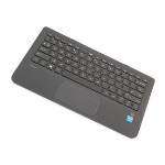HP 809543-031 notebook spare part Housing base + keyboard