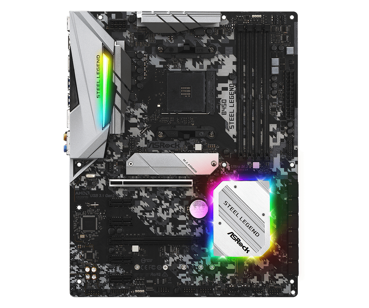 Asrock B450 Steel Legend placa base Zócalo AM4 ATX AMD B450