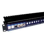 Cablenet 24 Port Front Access Panel Blue - Removeable Modules