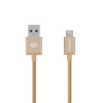 mBeat ® 'Toughlink'1.2m Lightning Fast Charger Cable - Gold/Durable Metal Braided/MFI/Apple iPhone X 11 7S