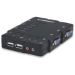 Manhattan 4-Port Compact KVM Switch, USB, with Cables and Audio Support