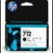 HP 712 Original Negro 1 pieza(s) Rendimiento estándar