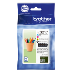 Brother LC-3217VAL 550pages 550pages Black, Cyan, Magenta, Yellow ink cartridge LC3217VAL