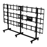"Peerless DS-C555-4X3 flat panel floorstand Portable flat panel floor stand Black 139.7 cm (55"")"