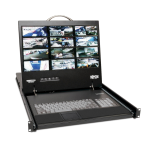 Tripp Lite NetCommander 16-Port Cat5 1U Rack-Mount 1+1 User Console KVM Switch with 19-in. LCD and IP Remote Access