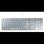 CHERRY KC 6000 SLIM Corded Keyboard, Silver/White, USB (QWERTY - UK)