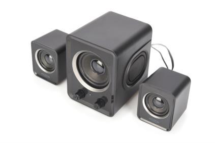 2.1 Mini Sub-Woofer System, 2x 3W + 1x 5W (RMS) black
