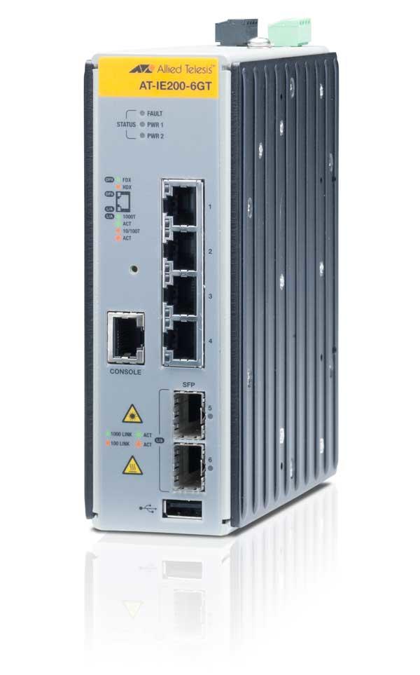Allied Telesis AT-IE200-6GT Gestionado L2 Gigabit Ethernet (10/100/1000) Negro