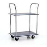 Barton Storage 2 SHELF TROLLEY SILVER/BLUEPST2