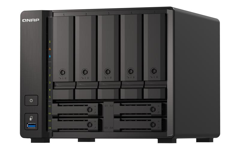 QNAP TS-H973AX-8G servidor de almacenamiento V1500B Ethernet Tower Negro NAS
