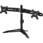 "Amer AMR2SU 24"" Freestanding Black flat panel desk mount"
