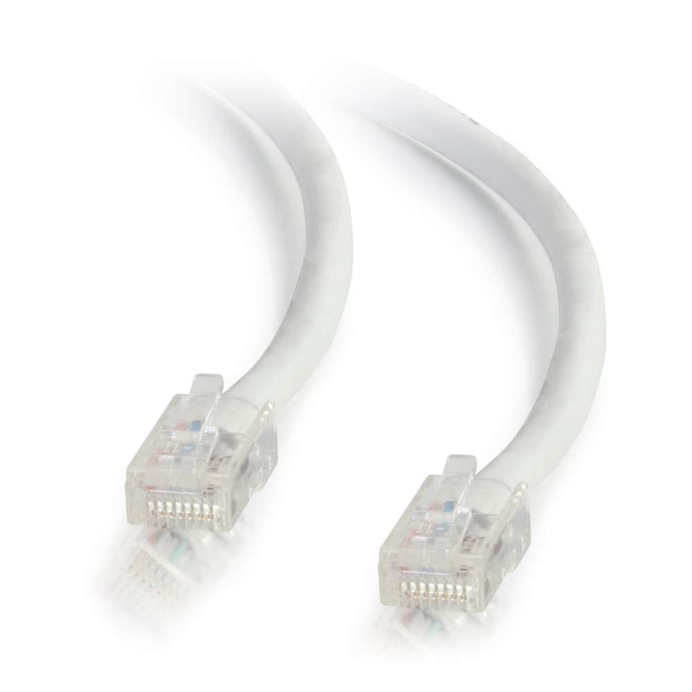 C2G Cable de conexión de red de 1 m Cat5e sin blindaje y sin funda (UTP), color blanco