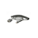 Zebra CBA-R71-C09ZAR serial cable Black 2.8 m RS232 DB9