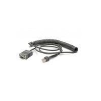 Zebra CBA-R71-C09ZAR cable de serie Negro 2,8 m RS232 DB9