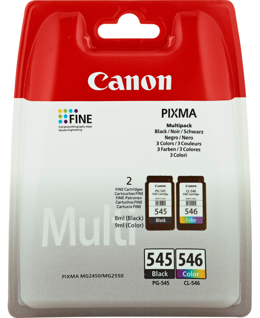 Canon 8287B006 (PG-545 CL 546) Printhead multi pack, 180 pages, Pack qty 2