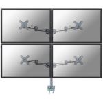 Neomounts by Newstar FPMA-D935D4 Flat panel Tischhalter 68,6 cm (27 Zoll) Klemme Silber