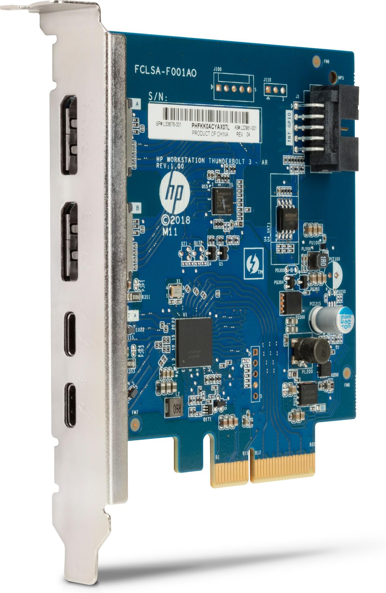 HP Thunderbolt 3 Pci-e 2-port I/O Card