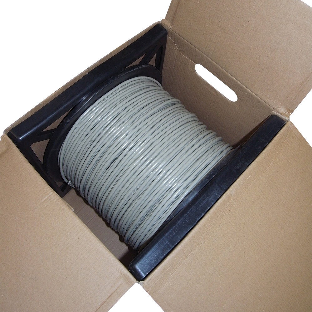 Connekt Gear 305M Solid UTP Cat5e Network Drum Grey Cable 24AWG