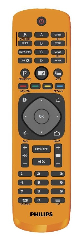 Philips 22AV9573A/12 Push buttons Orange remote control