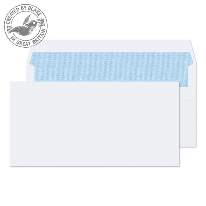 Blake Value Wallet S/S Plain DL 110x220mm 90gsm White PK1000