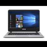 """ASUS VivoBook X407UA-EB017T Grey Notebook 35.6 cm (14"""") 1920 x 1080 pixels 2.00 GHz 6th gen Intel® Core™ i3 i3-6006U"""