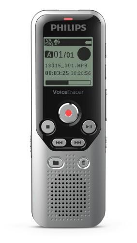 Philips DVT1250 dictaphone Internal memory & flash card Black, Grey