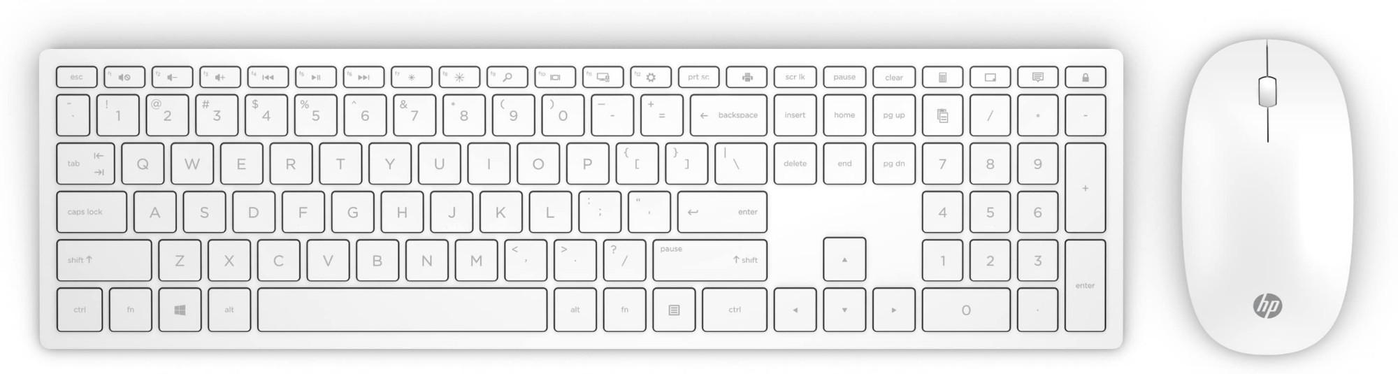 HP Pavilion 800 keyboard RF Wireless White - Keyboards