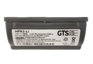 GTS HPR3-LI accesorio para dispositivo de mano Batería Negro