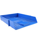 Deflecto CP043YTBLU desk tray