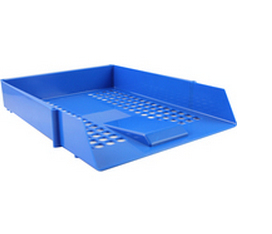 Letter Tray Plastic Blue