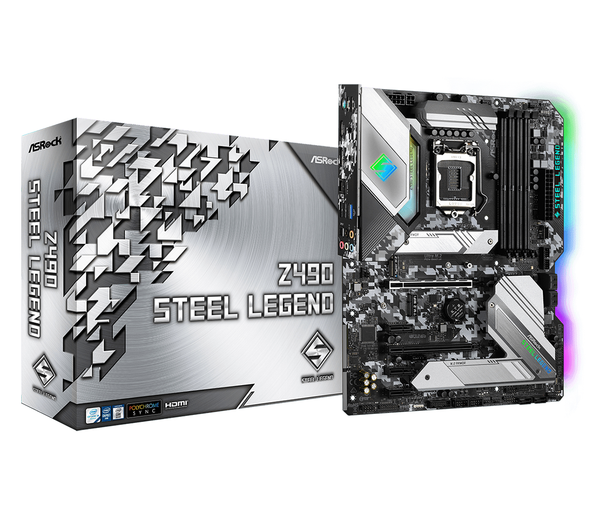 Asrock Z490 Steel Legend motherboard ATX Intel Z490
