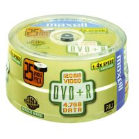 Maxell DVD+R 4.7GB 4x spindle 25 4 pc(s)