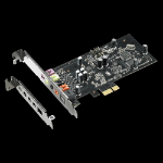 ASUS Xonar SE 5.1 PCIe gaming sound card with 192kHz/24-bit hi-res audio and 116dB SNR