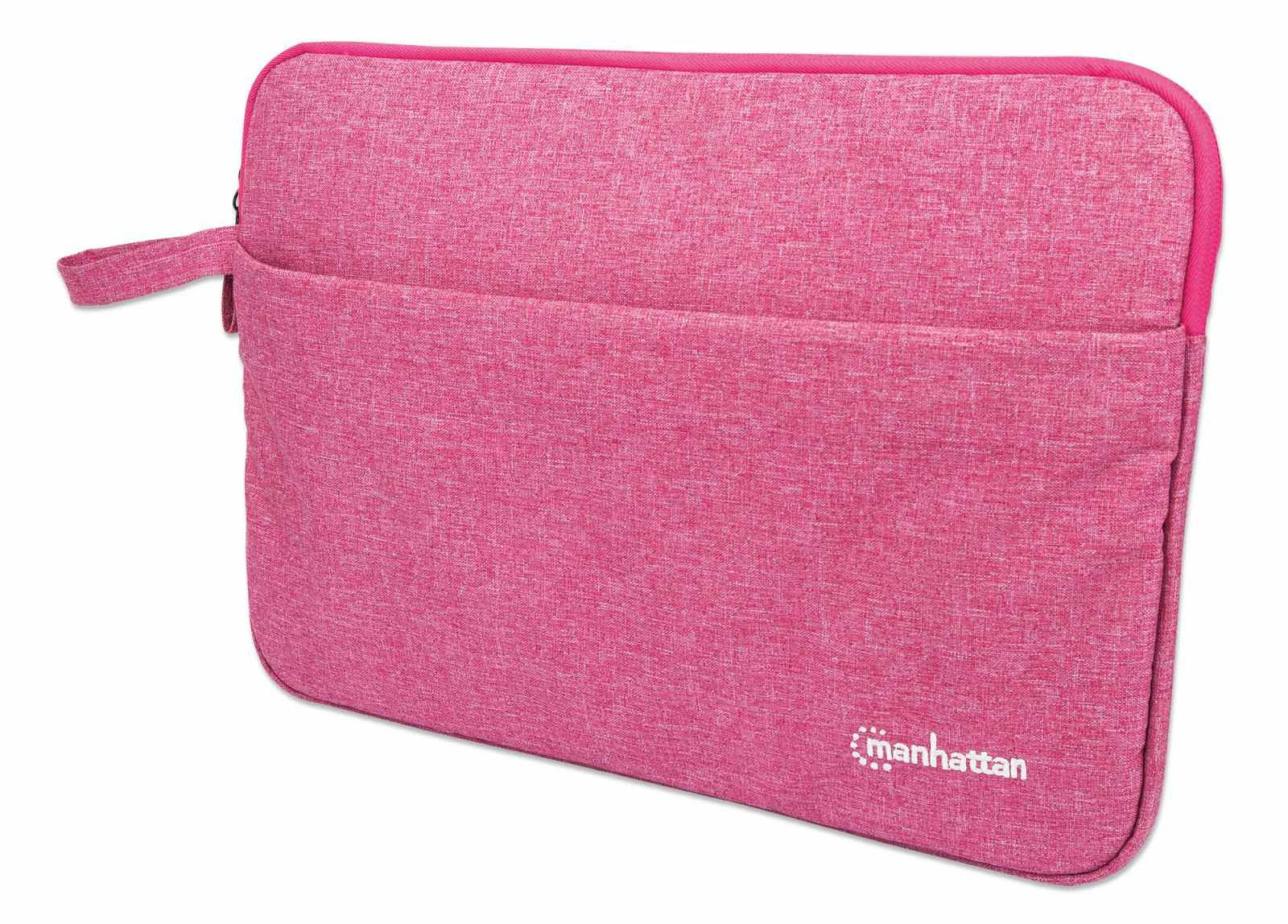 """Manhattan Seattle Laptop Sleeve 14.5"""", Coral, Padded, Extra Soft Internal Cushioning, Main Compartment with double zips, Zippered Front Pocket, Carry Loop, Water Resistant and Durable"""
