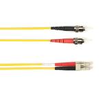 "Black Box FOLZHM4-010M-STLC-YL fiber optic cable 393.7"" (10 m) ST LC OM4 Yellow"