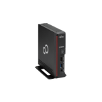 Fujitsu ESPRIMO G558 G5400 USFF Intel Pentium G 4 GB DDR4-SDRAM 128 GB SSD Windows 10 Pro Mini PC Black, Red