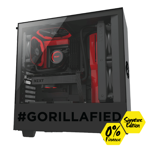 Gorilla Gaming LEVEL: 2.3 Signature Edition - Ryzen 7 3800X, 16GB RAM, 512GB NVMe SSD, 1TB HDD, RX 5700 XT