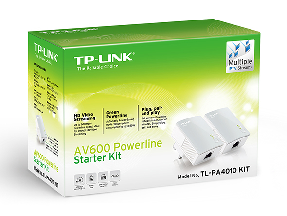 TP-LINK AV600 Nano Powerline Adapter Starter Kit PowerLine network adapter