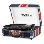 Victrola VSC-550BT-UK Belt-drive audio turntable Blue,Red,White