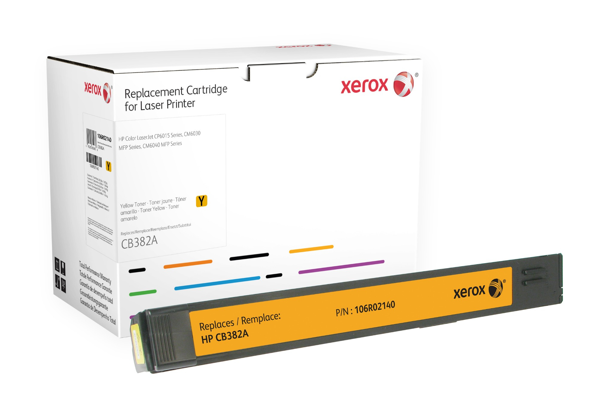 Xerox 106R02140 compatible Toner yellow, 21K pages @ 5% coverage (replaces HP 824A)