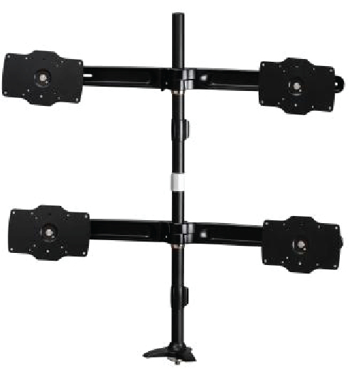 Quad Monitor Grommet Mount Max 32in Disp