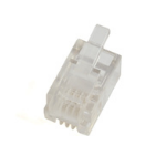 Microconnect Modular Plug 4P4C Transparent