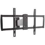 "Proper Sliding TV Bracket for Curved & Flat 37""-70"" 70"" Black flat panel wall mount"