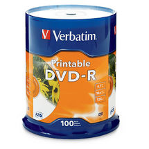 Verbatim DVD-R InkJet 4.7GB DVD-R 100pc(s)