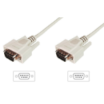 Digitus AK-610107-030-E serial cable Beige 3 m DSUB, 9-pin