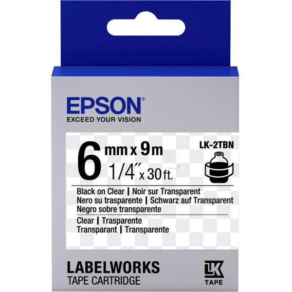 Epson C53S652004 (LK-2TBN) Ribbon, 6mm x 9m