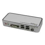 StarTech.com 2-poort USB DVI USB KVM-switch met Kabels USB 2.0-hub en Audio